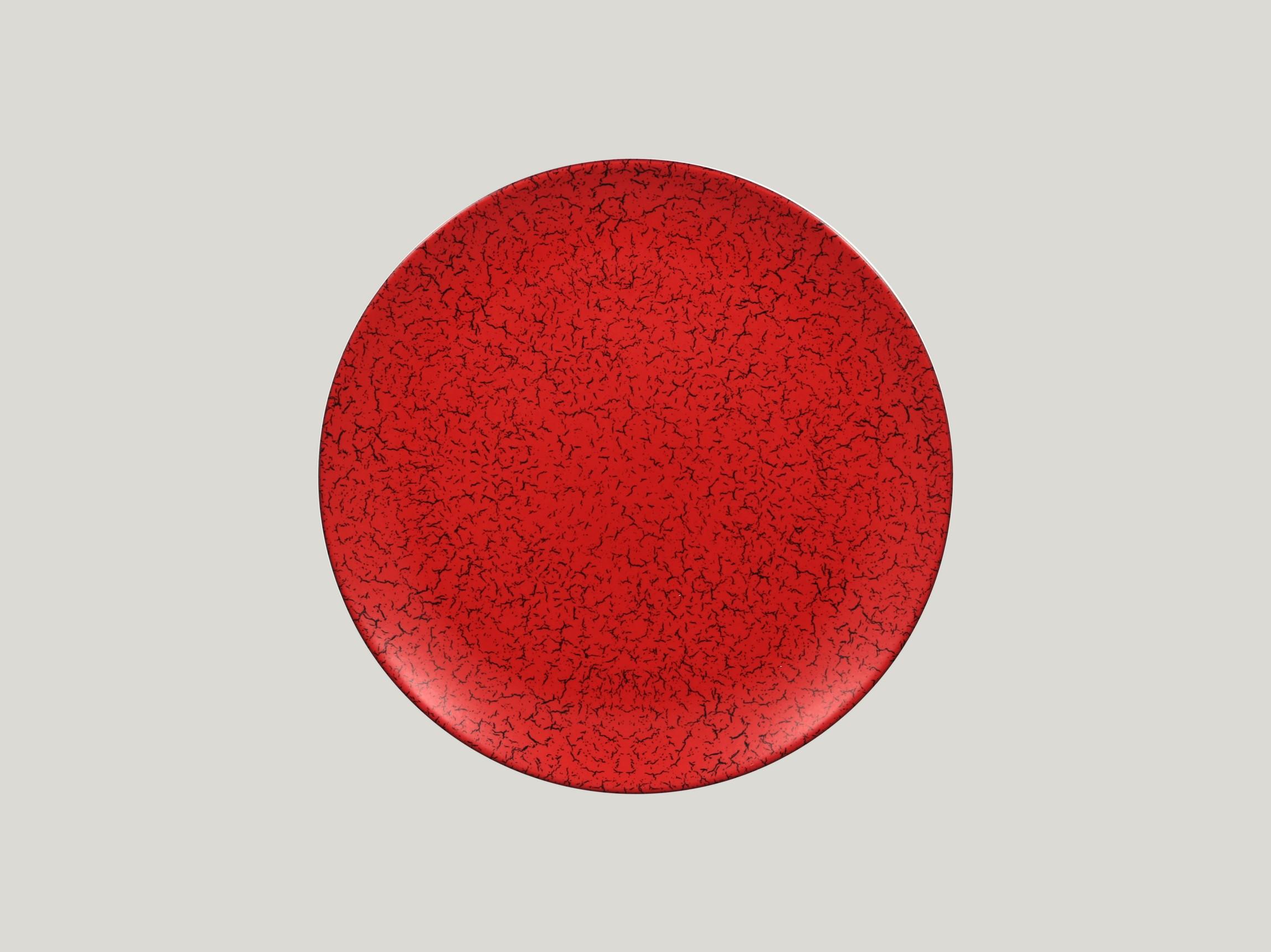 Talíř mělký 27 cm - červená