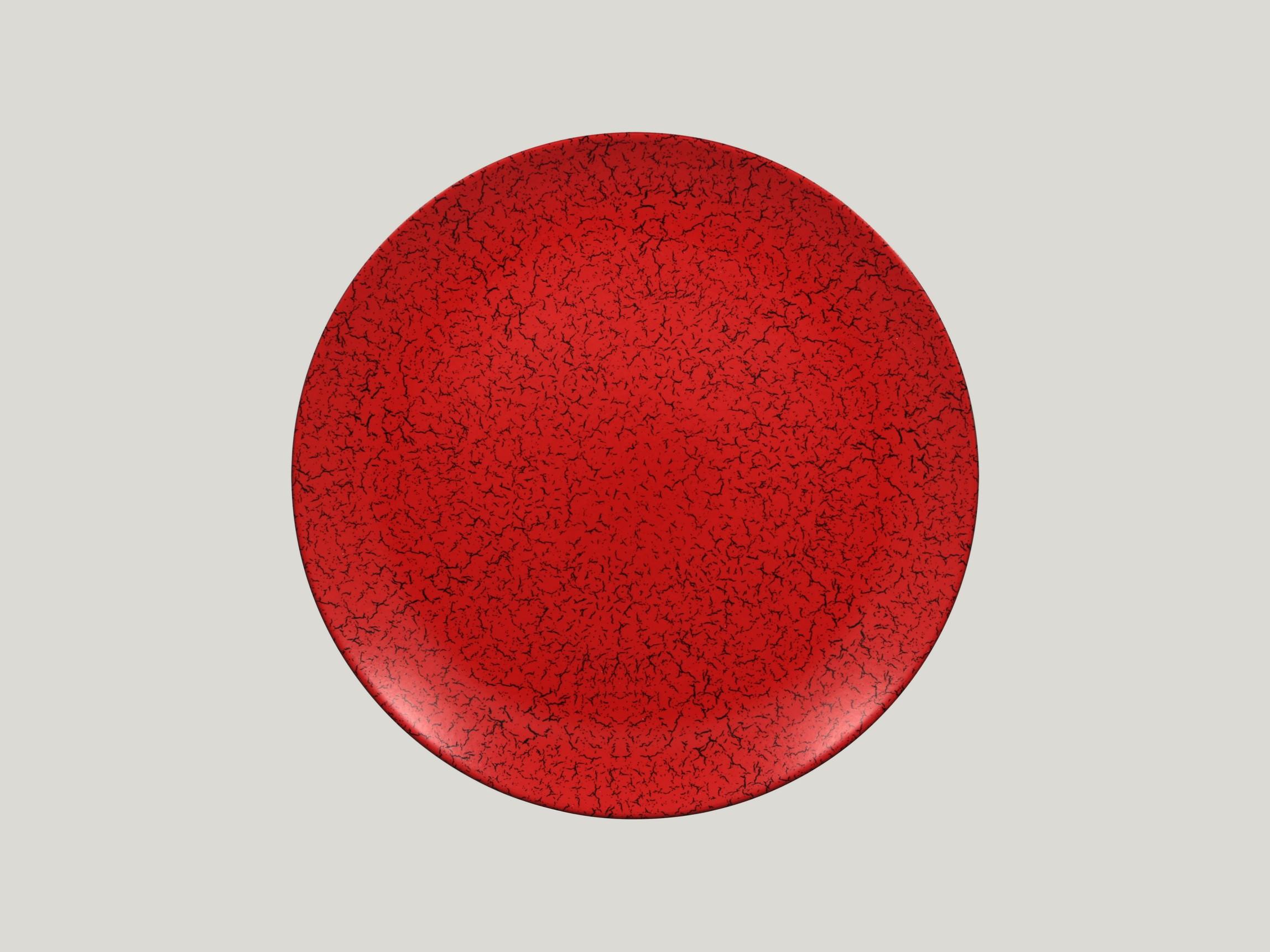 Talíř mělký 29 cm - červená