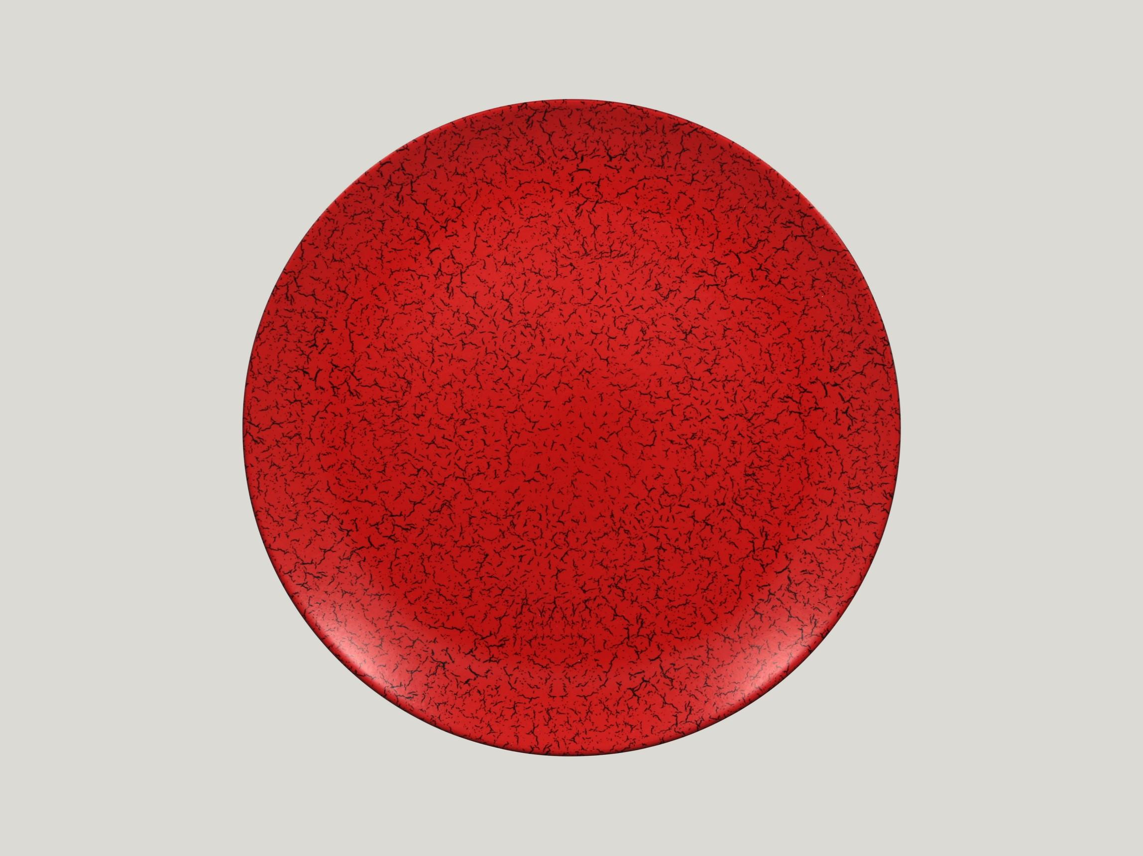 Talíř mělký 31 cm - červená