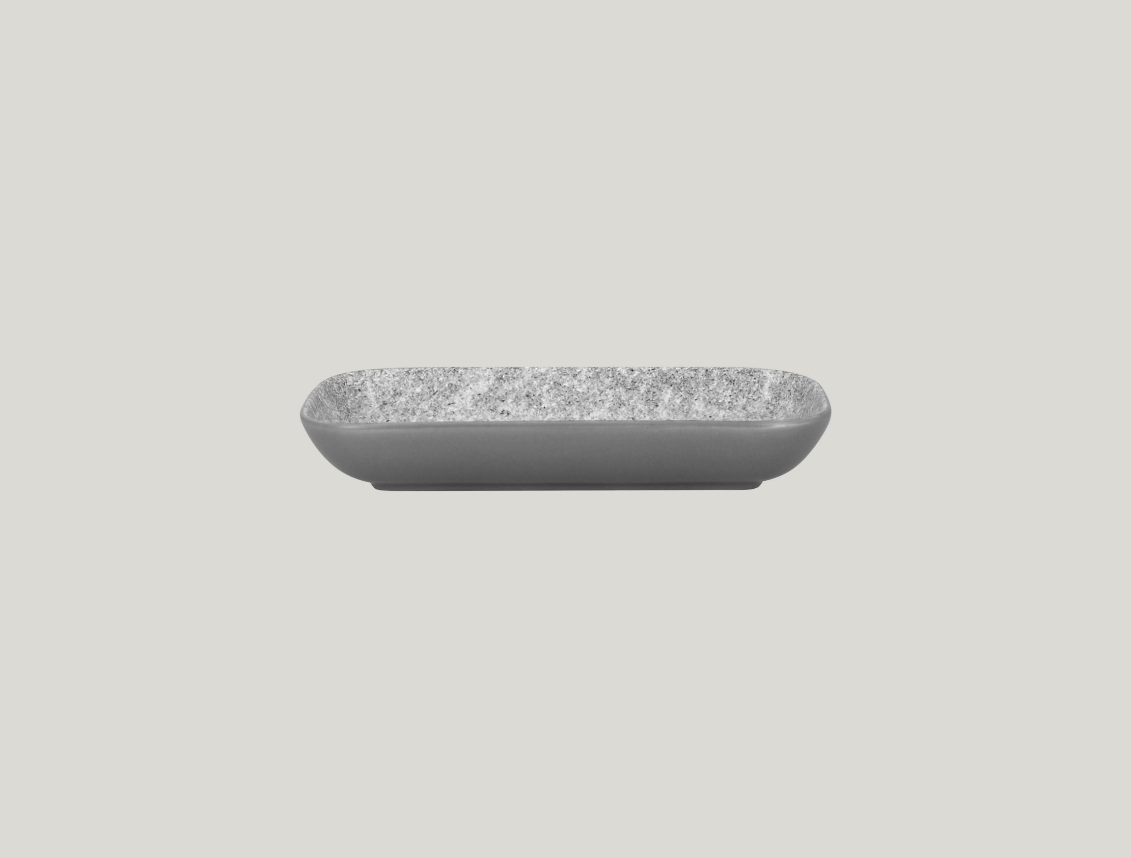 Miska obdélníková 22 x 11 cm - šedá