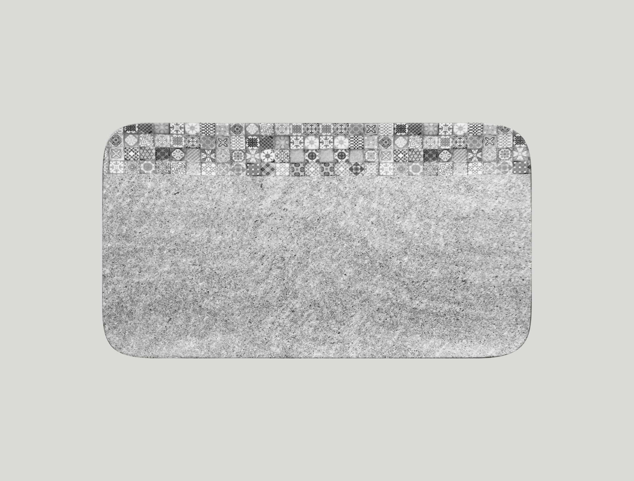 Talíř obdélníkový 38 x 21 cm - šedá