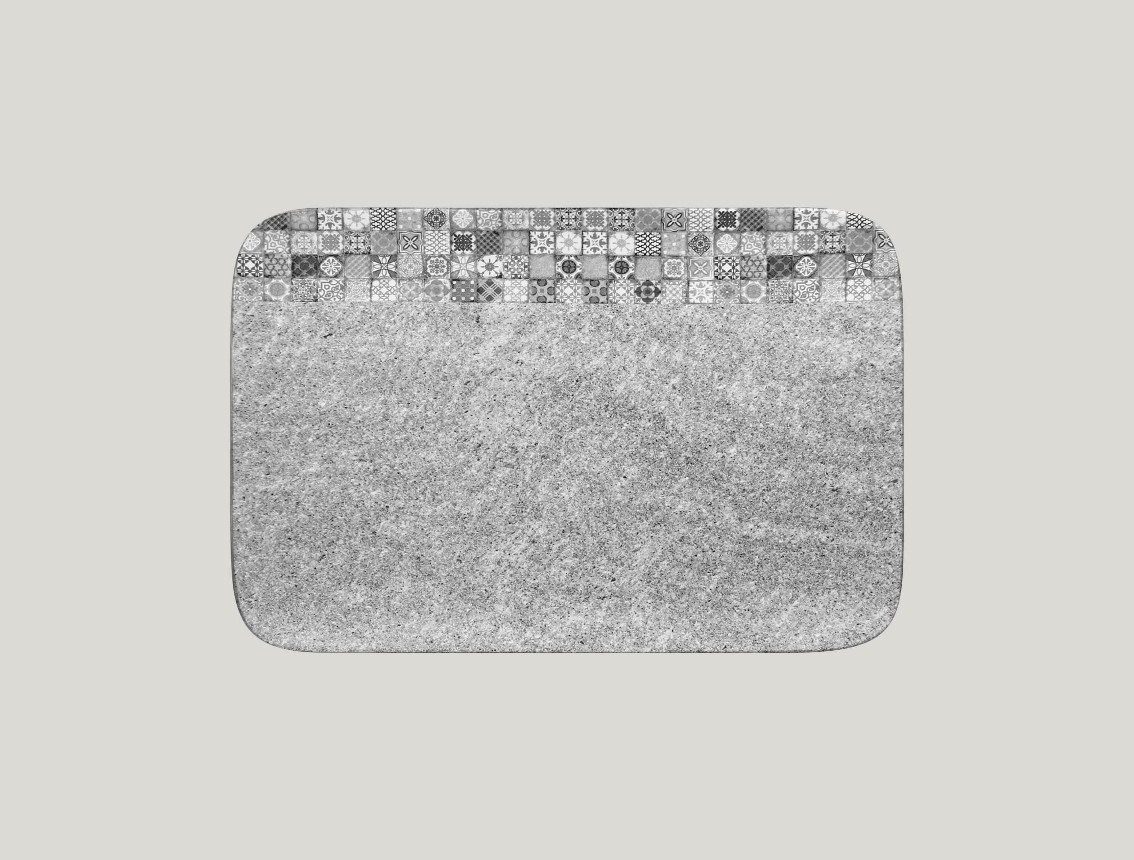 Talíř obdélníkový 33 x 22 cm - šedá