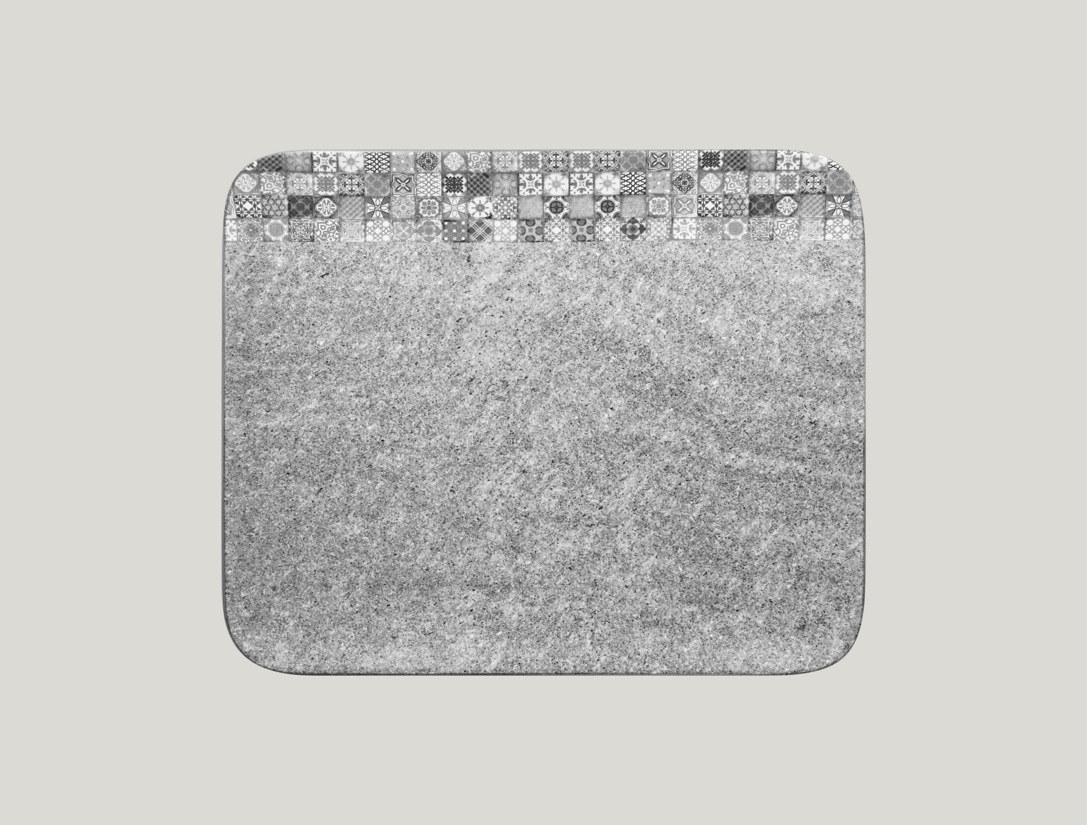 Talíř obdélníkový 33 x 27 cm - šedá