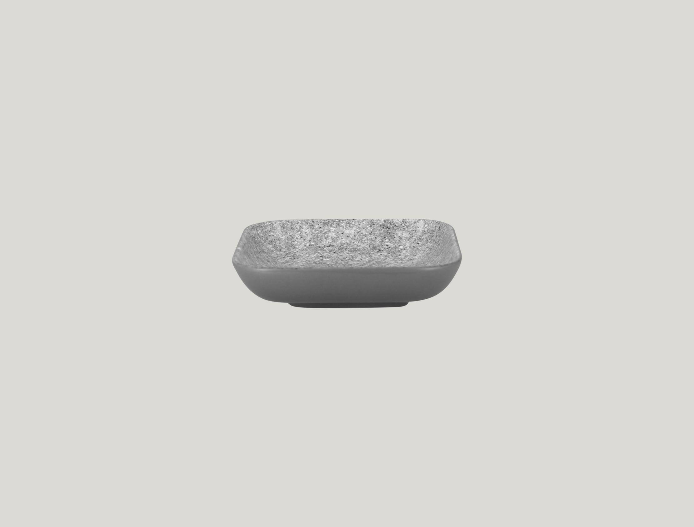 Miska čtvercová 15 x 15 cm - šedá