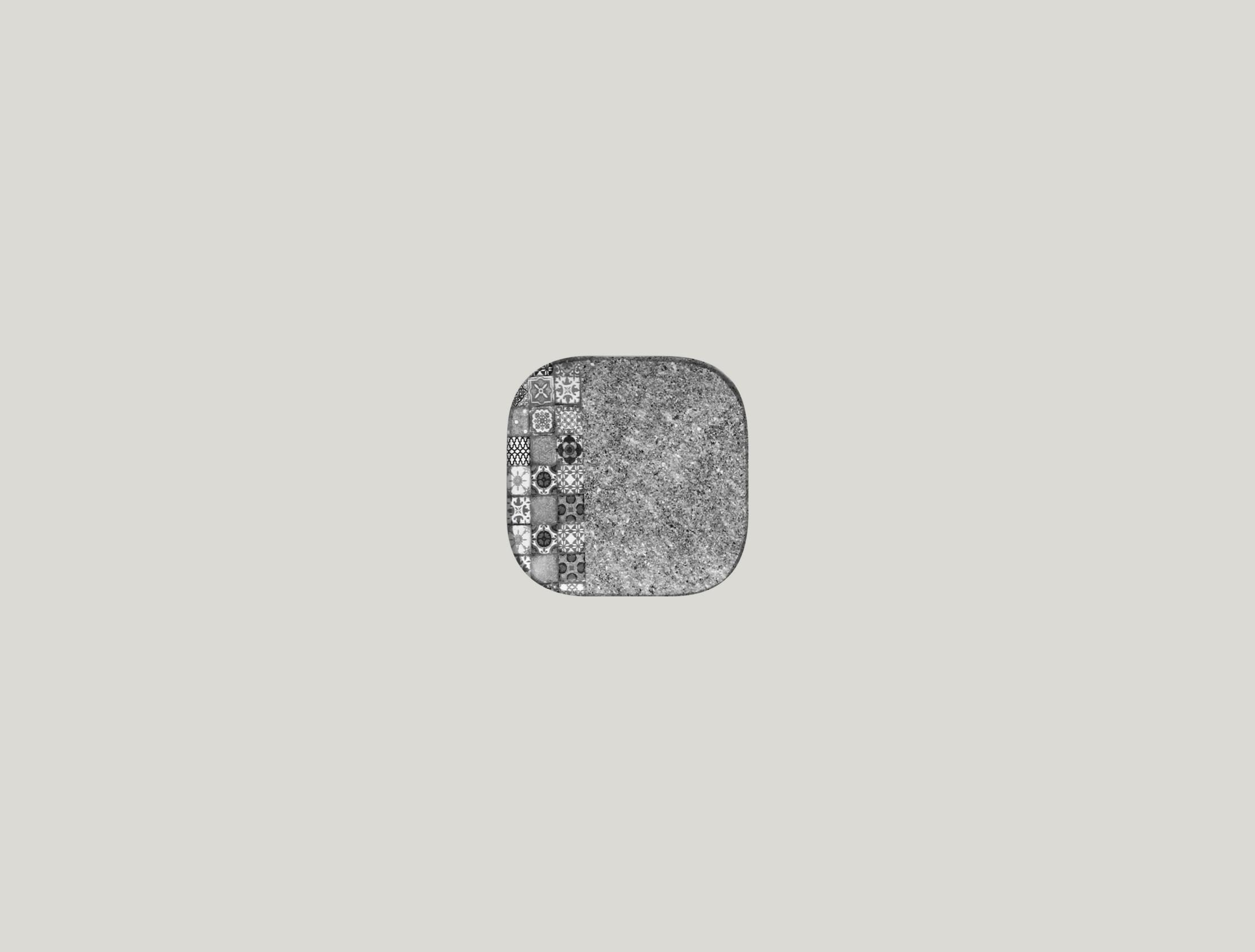 Talíř čtvercový 11 x 11 cm - šedá