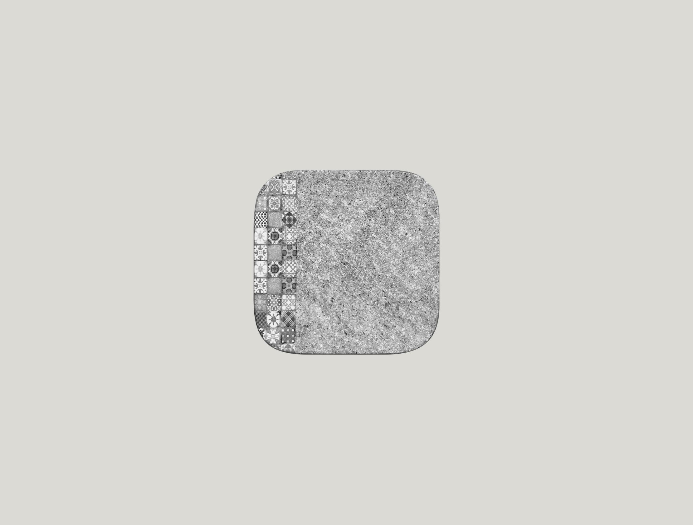 Talíř čtvercový 15 x 15 cm - šedá