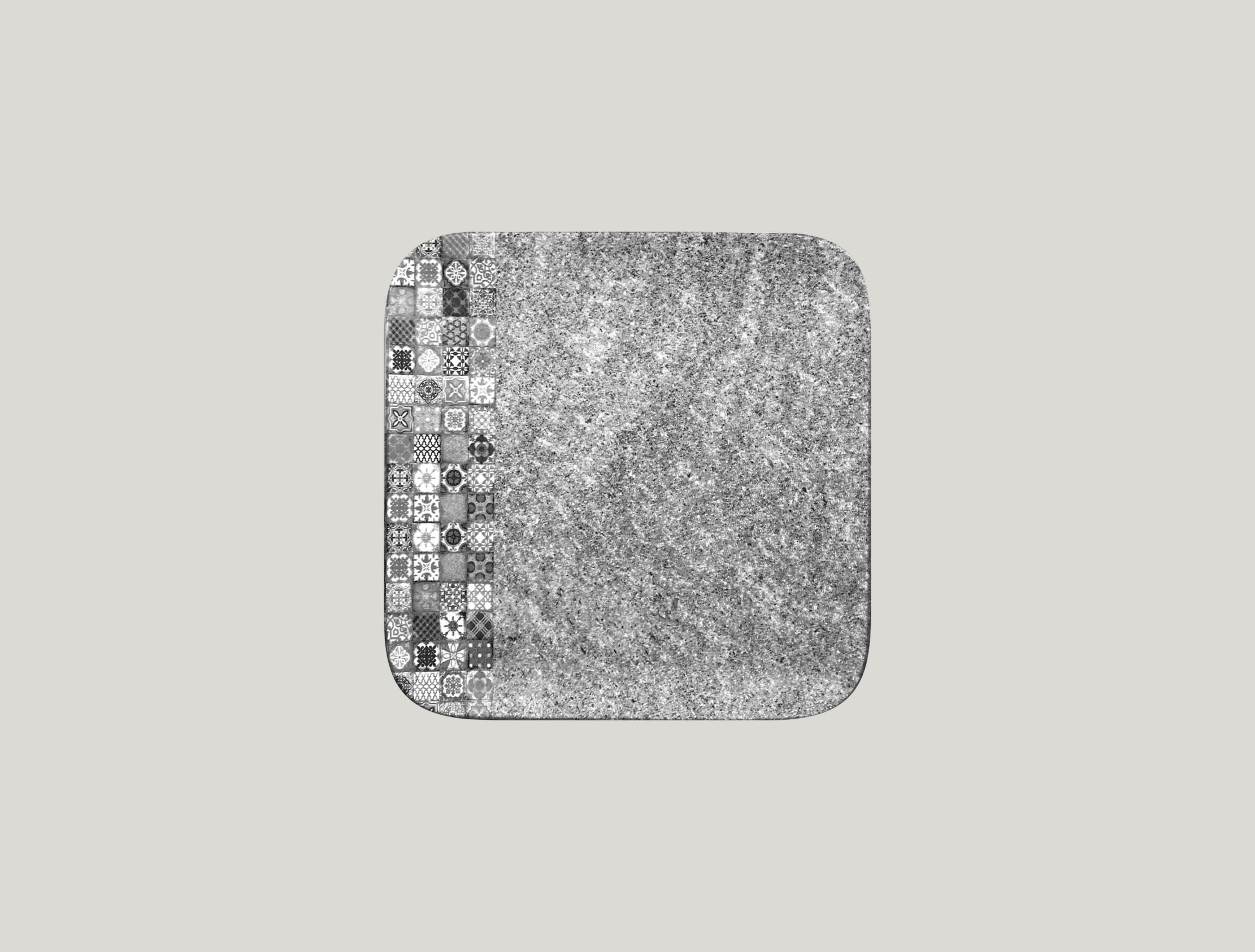 Talíř čtvercový 22 x 22 cm - šedá