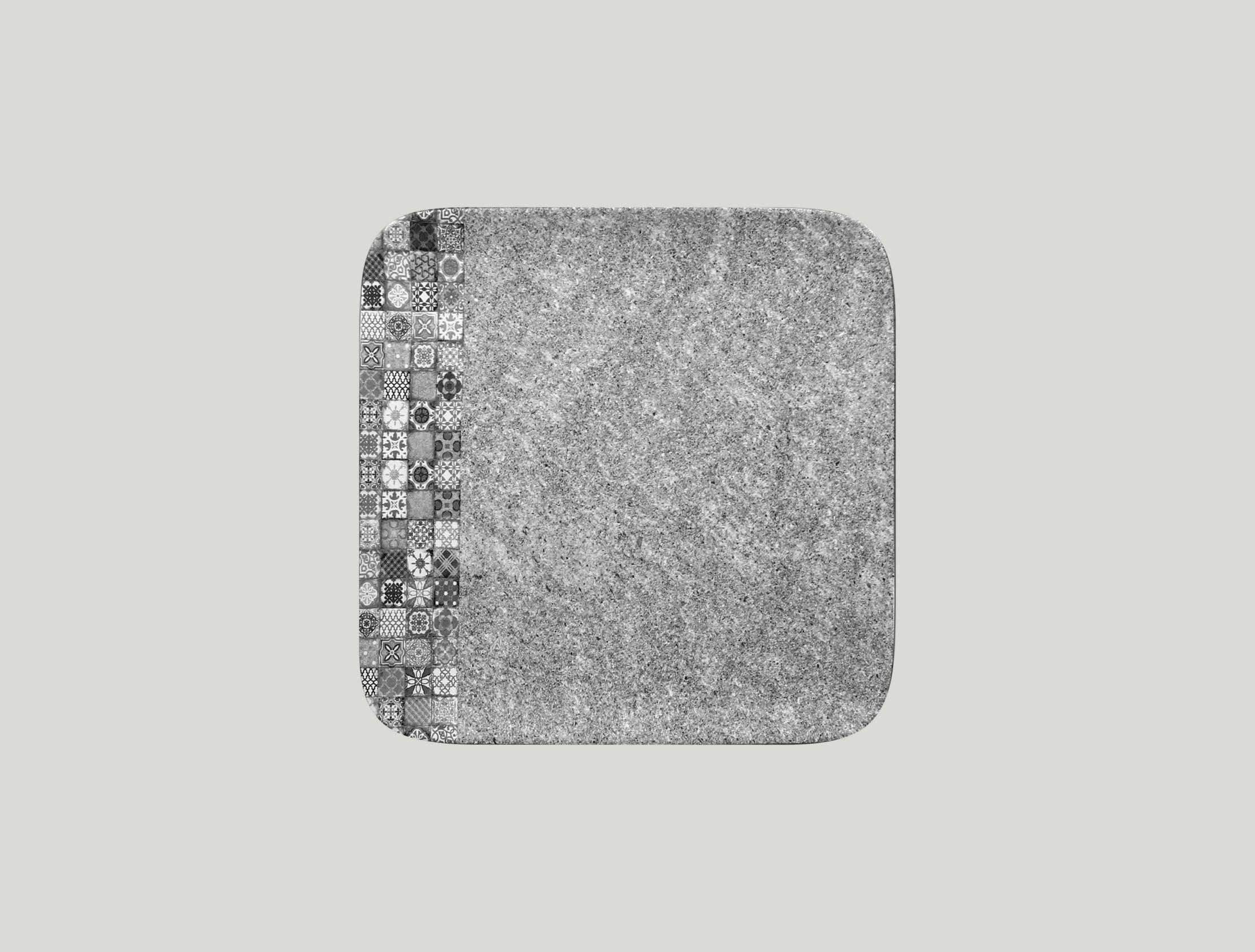 Talíř čtvercový 24 x 24 cm - šedá