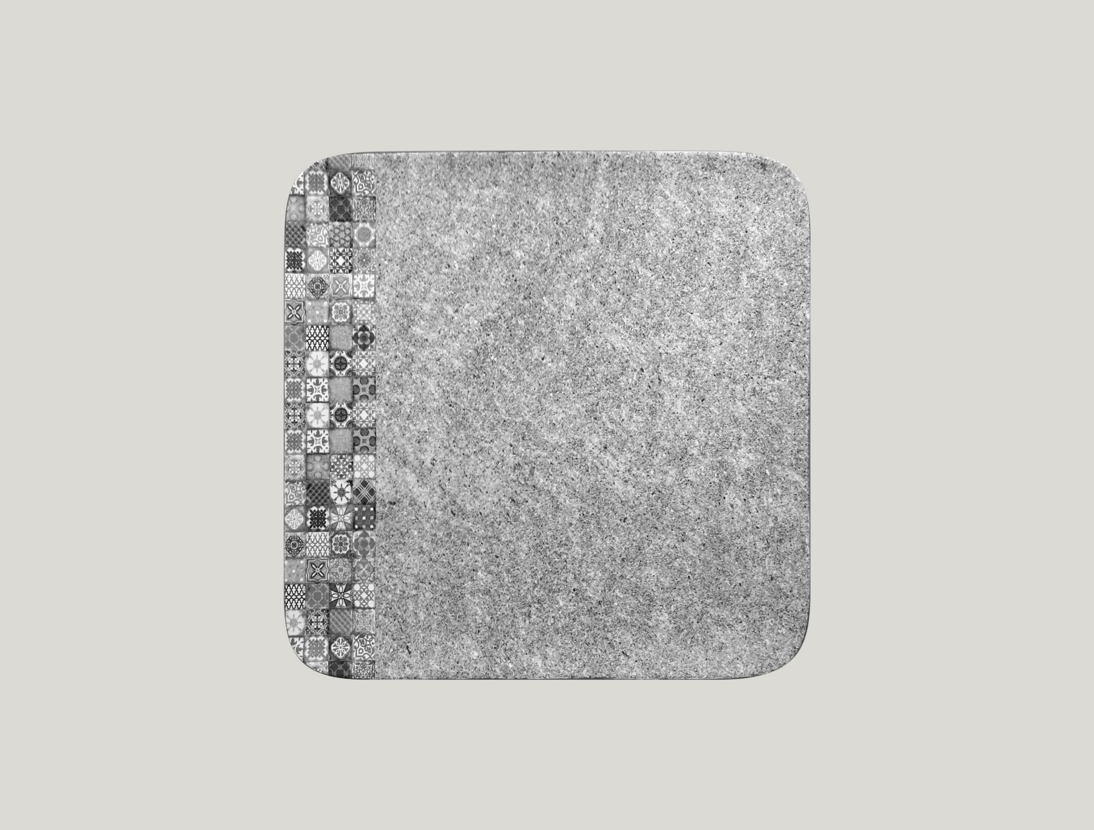 Talíř čtvercový 27 x 27 cm - šedá