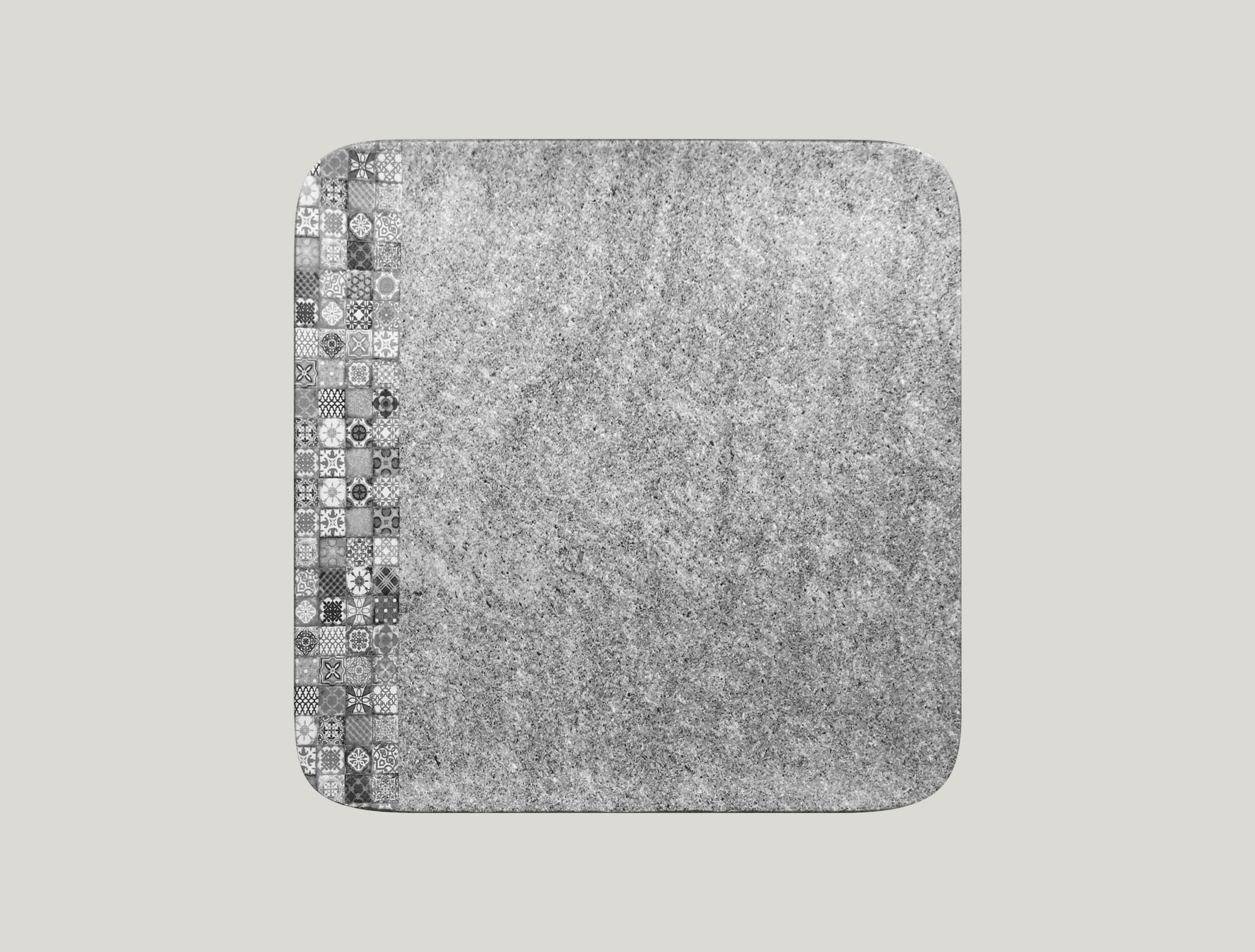 Talíř čtvercový 30 x 30 cm - šedá