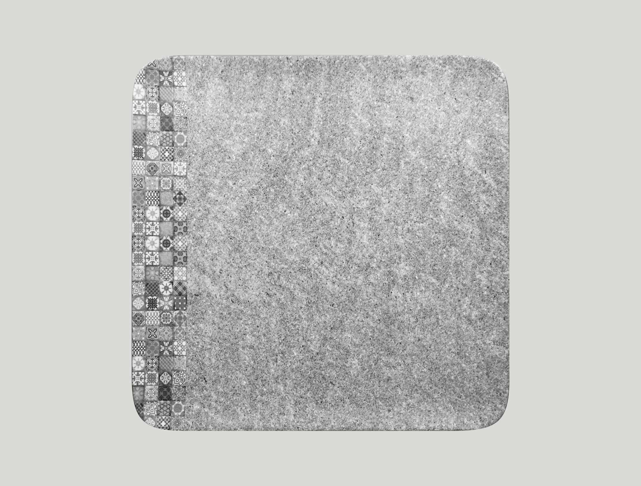 Talíř čtvercový 33 x 33 cm - šedá