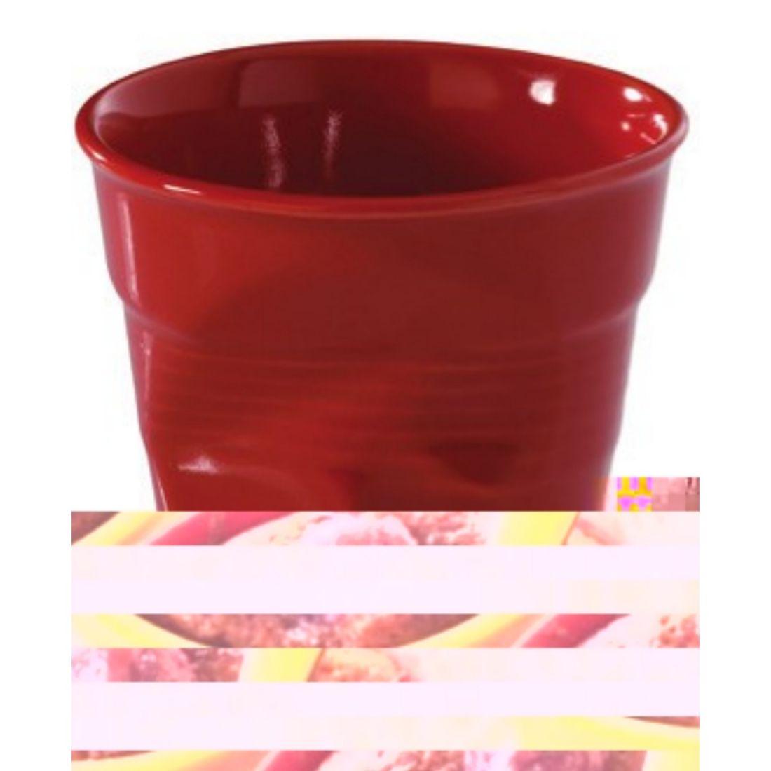 Porcelánový kelímek na capuccino 180ml Froissés