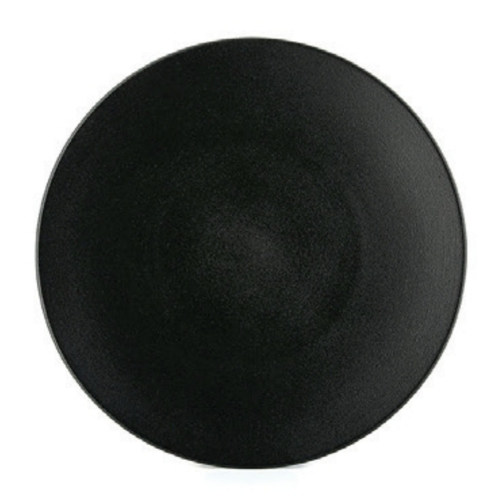 Equinoxe talíř mělký 16 cm, černý