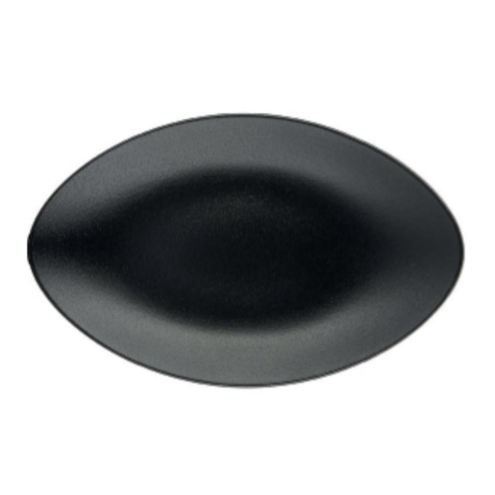 Equinoxe talíř oválný 35 x 22,3 cm, černý