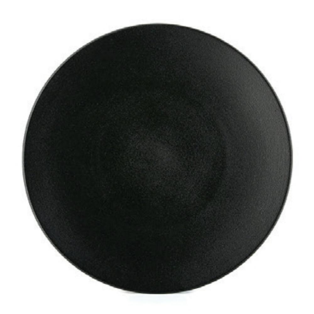 Equinoxe talíř mělký 26 cm černý