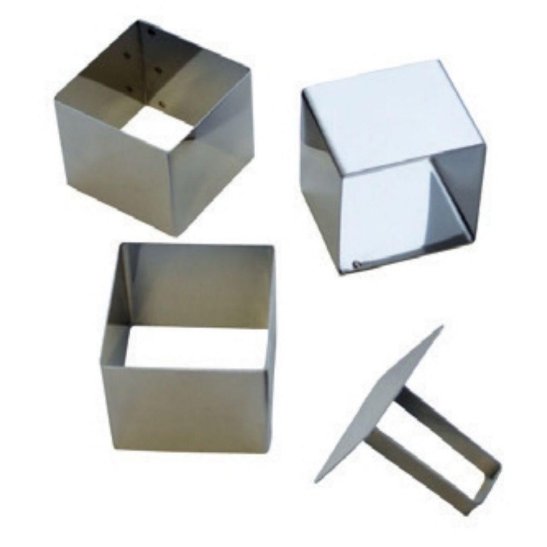 Formy čtvercové + tlačíko š. 5,5 cm