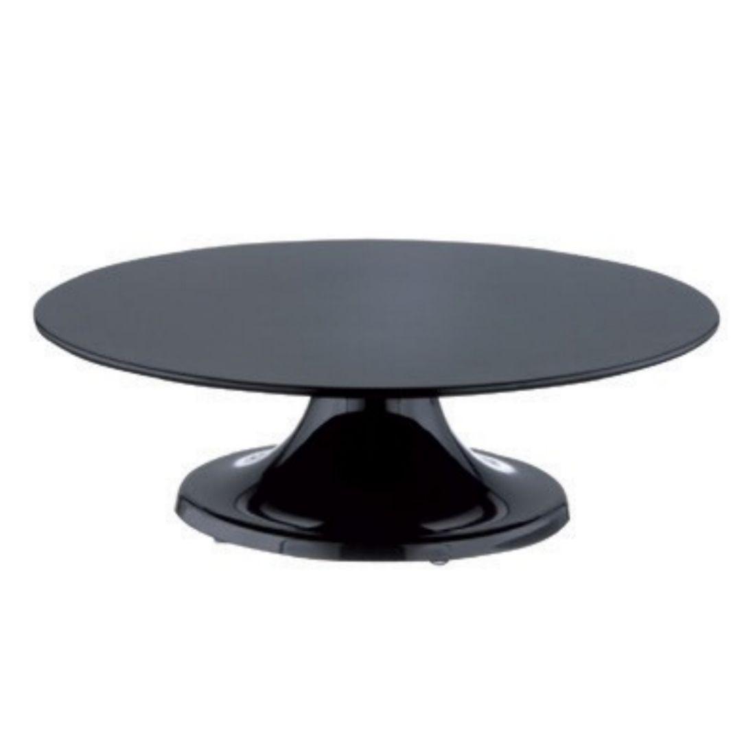 Etažér melaminový pr. 32 cm černý