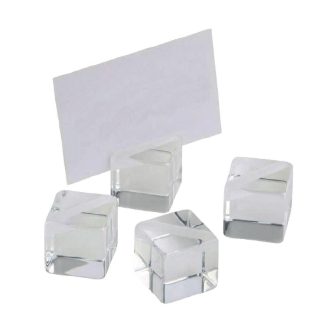 Sestava tabulek informačních, 4x akrylový stojan, 20x bílé karty