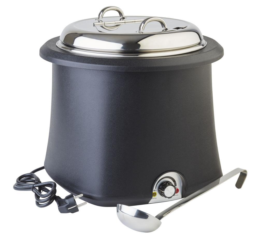Kotlík na polévku 10 l elektrický černý