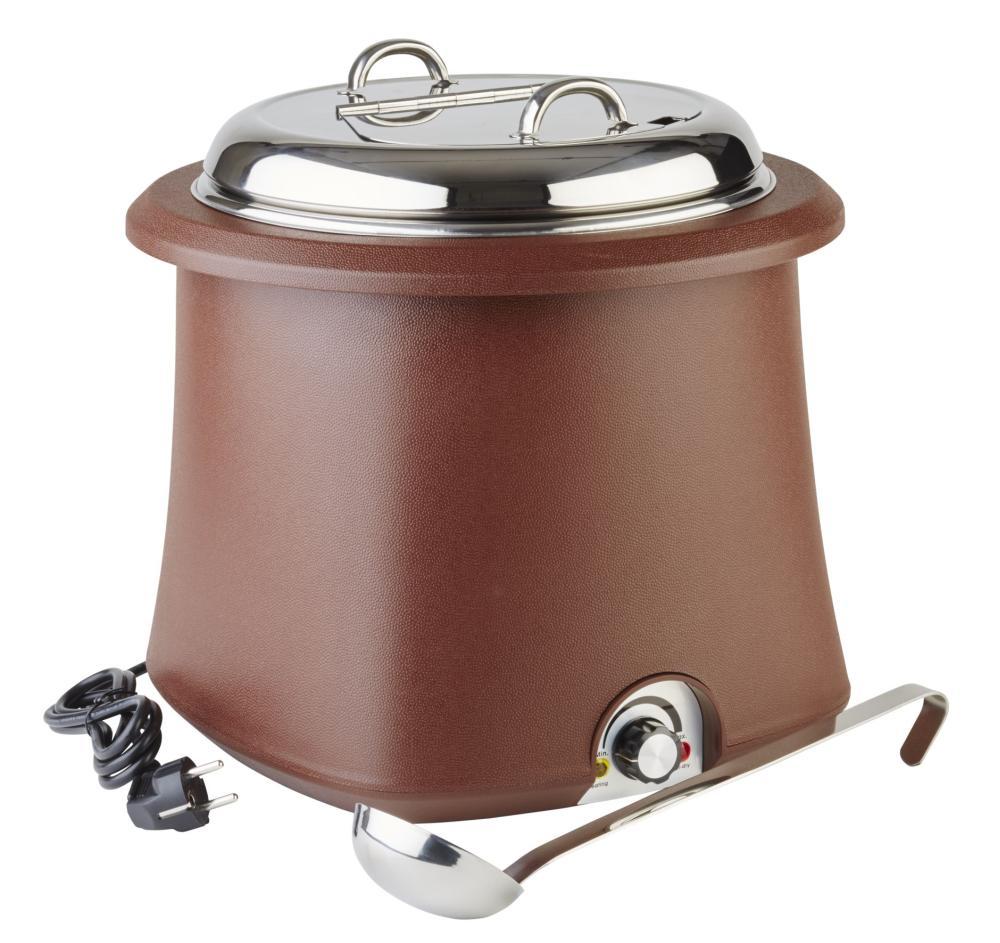 Kotlík na polévku 10 l elektrický hnědý