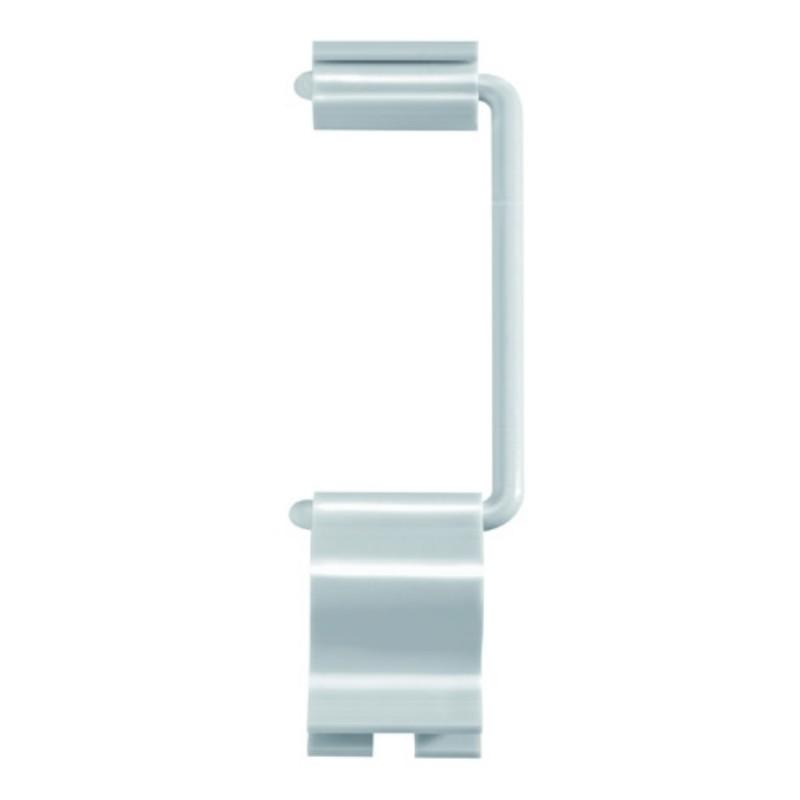 Držák cedulek 125 mm bílý, set 10 ks.