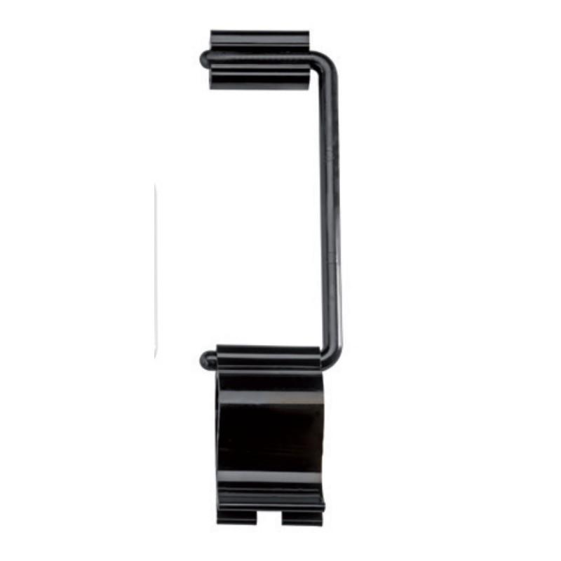 Držák cedulek 125 mm černý, set 10 ks.