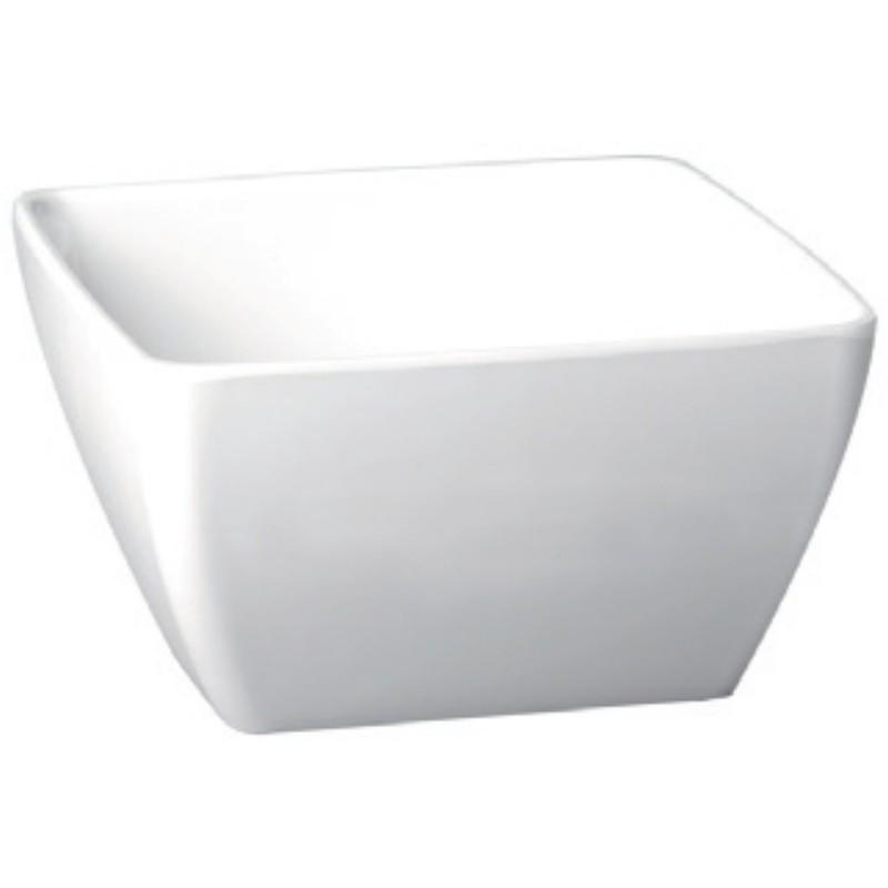 Miska melaminová čtvercová bílá 1,5 l