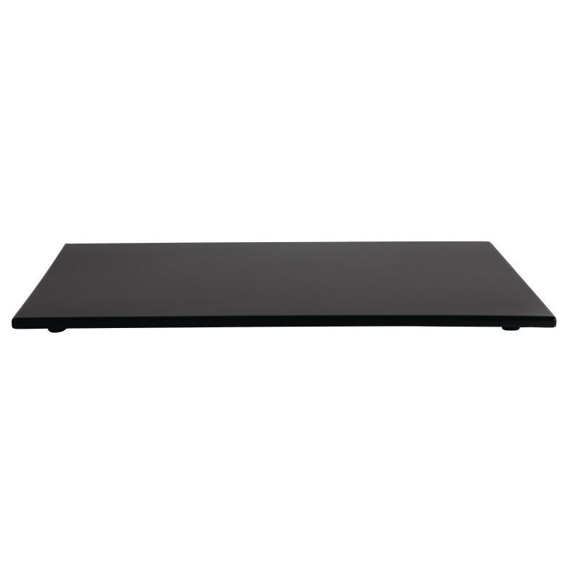 Deska melaminová černá 530x162