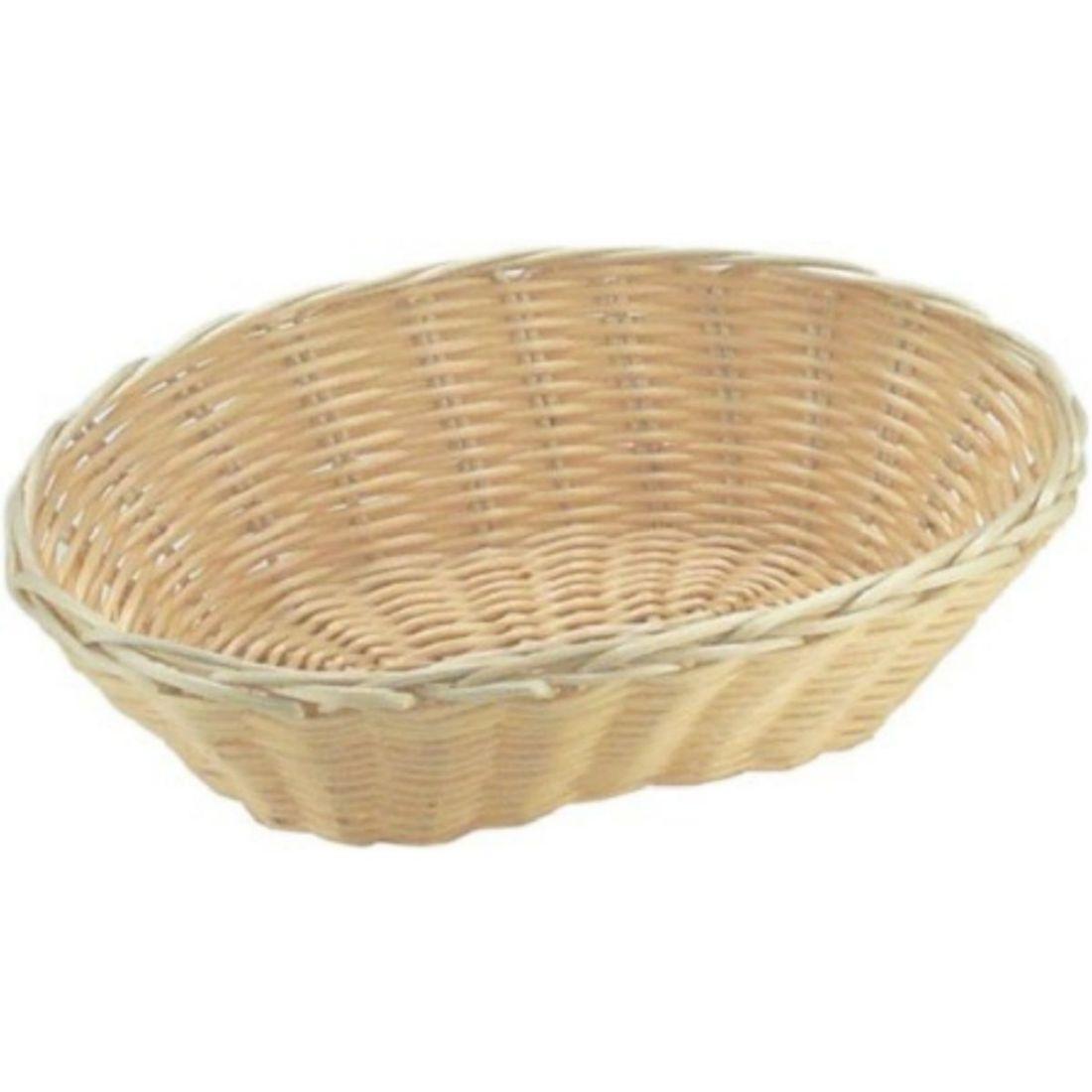 Košík na pečivo polyratan 25x16x6,5cm